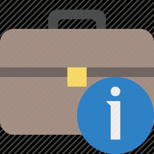 bag, briefcase, business, information, portfolio, suitcase, work icon
