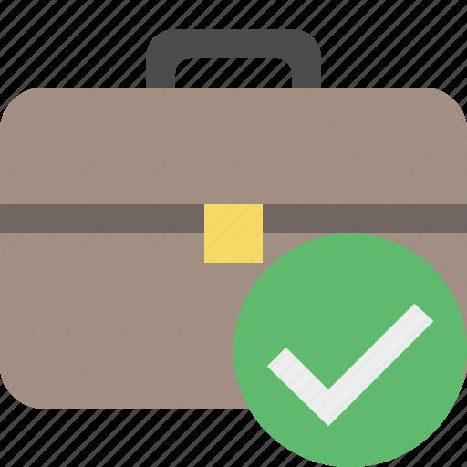 bag, briefcase, business, ok, portfolio, suitcase, work icon