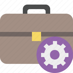 bag, briefcase, business, portfolio, settings, suitcase, work icon