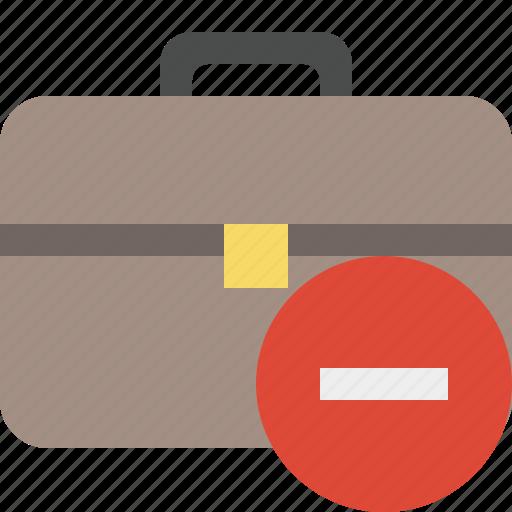 bag, briefcase, business, portfolio, stop, suitcase, work icon