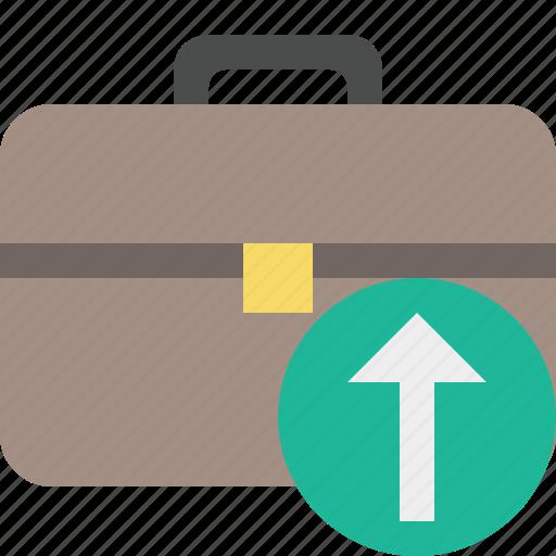 bag, briefcase, business, portfolio, suitcase, upload, work icon