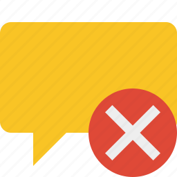 blank, bubble, cancel, chat, comment, message, talk icon