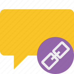 blank, bubble, chat, comment, link, message, talk icon