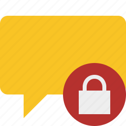 blank, bubble, chat, comment, lock, message, talk icon