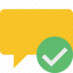 blank, bubble, chat, comment, message, ok, talk icon