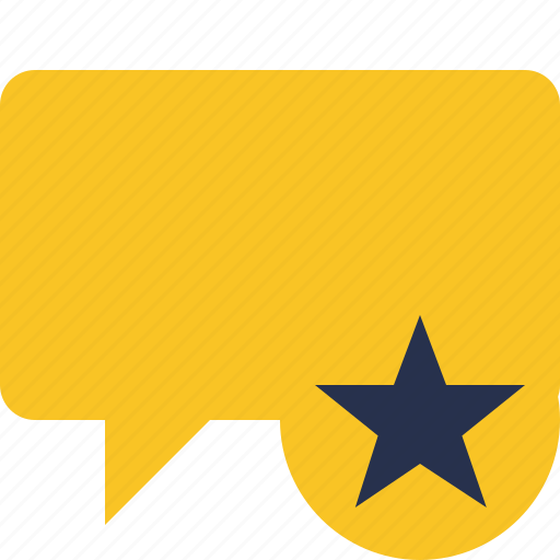 blank, bubble, chat, comment, message, star, talk icon