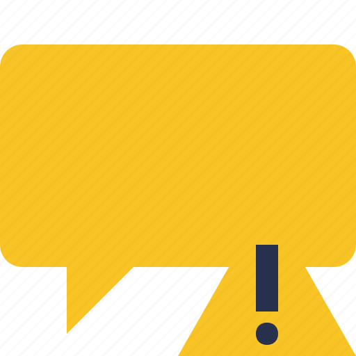 blank, bubble, chat, comment, message, talk, warning icon
