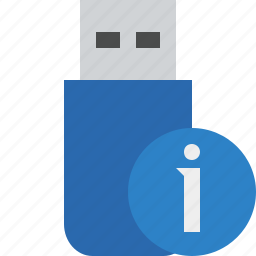 data, disk, drive, flash, information, removable, storage, usb icon