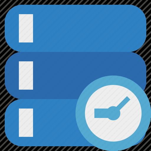clock, data, database, server, storage icon