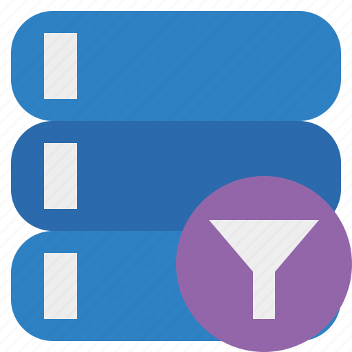 data, database, filter, server, storage icon