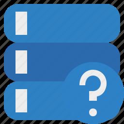 data, database, help, server, storage icon