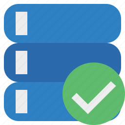 data, database, ok, server, storage icon
