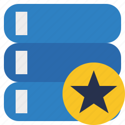 data, database, server, star, storage icon