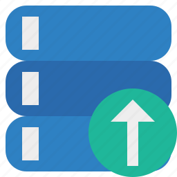 data, database, server, storage, upload icon