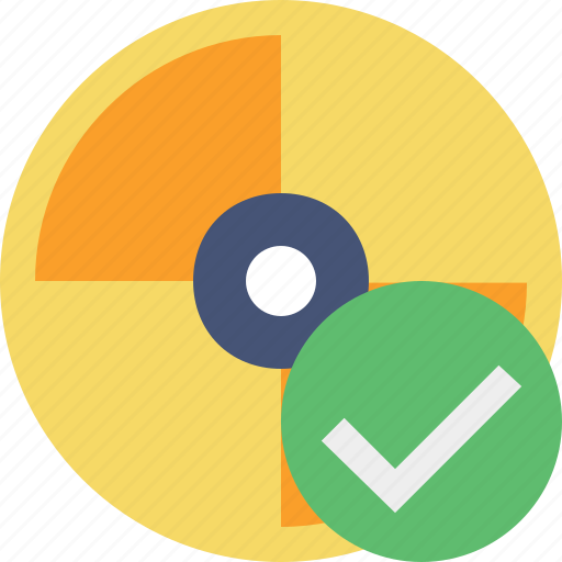 cd, disc, disk, dvd, ok icon