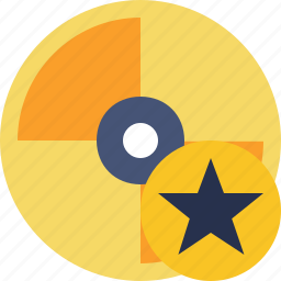cd, disc, disk, dvd, star icon
