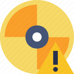 cd, disc, disk, dvd, warning icon