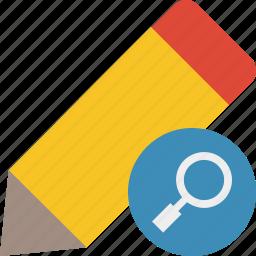 draw, edit, pen, pencil, search, tool, write icon