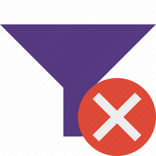 cancel, filter, funnel, sort, tools icon