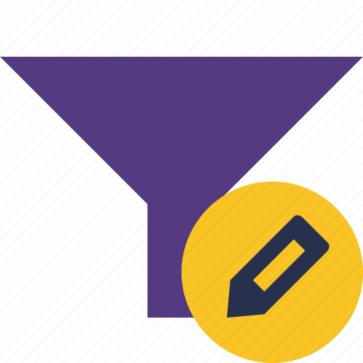 edit, filter, funnel, sort, tools icon