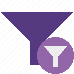 filter, funnel, sort, tools icon