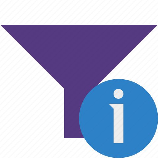 filter, funnel, information, sort, tools icon