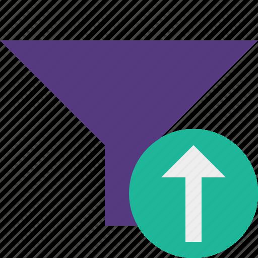 filter, funnel, sort, tools, upload icon