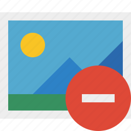 gallery, image, photo, picture, stop icon