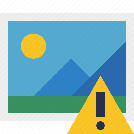 gallery, image, photo, picture, warning icon