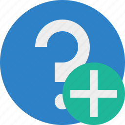 add, faq, help, question, support icon
