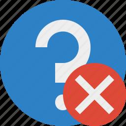 cancel, faq, help, question, support icon