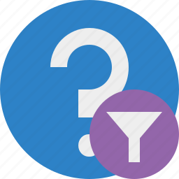 faq, filter, help, question, support icon