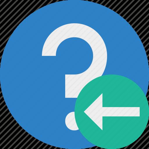 faq, help, previous, question, support icon