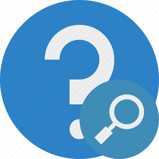 faq, help, question, search, support icon