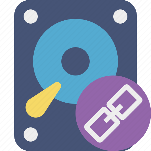 data, disk, drive, hard, hdd, link, storage icon