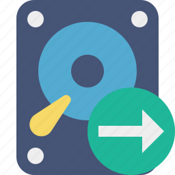 data, disk, drive, hard, hdd, next, storage icon