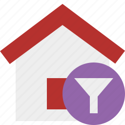 address, building, filter, home, house icon
