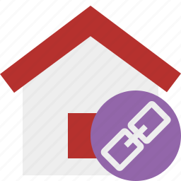 address, building, home, house, link icon