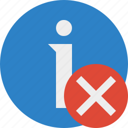about, cancel, data, details, help, information icon