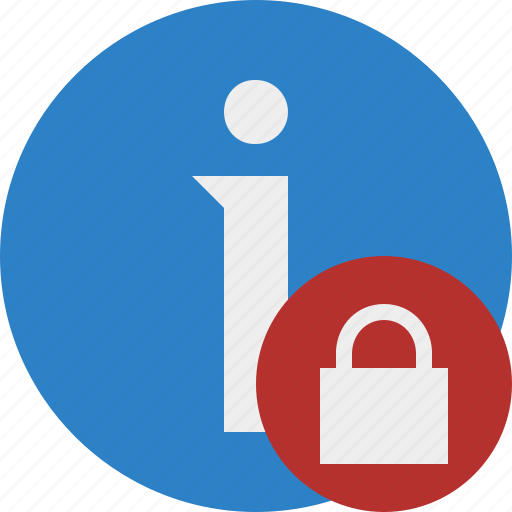about, data, details, help, information, lock icon