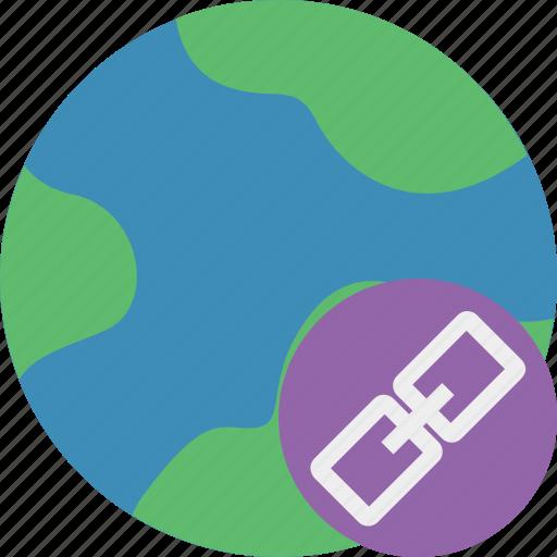 earth, internet, link, planet, web, world icon