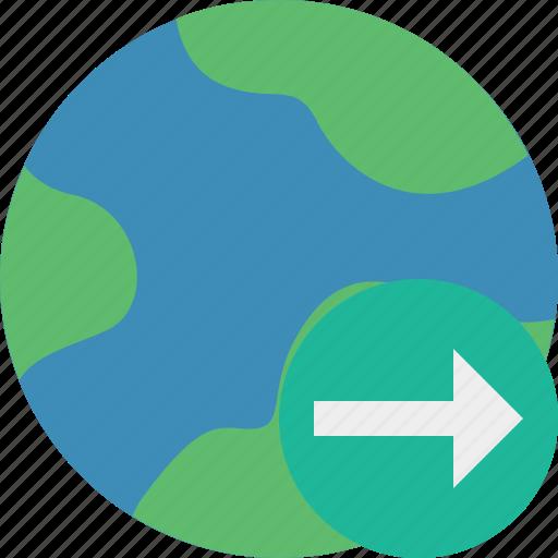 earth, internet, next, planet, web, world icon