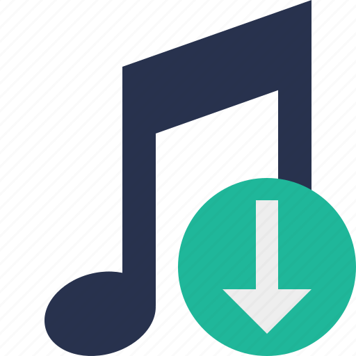 audio, download, multimedia, music, note, sound icon