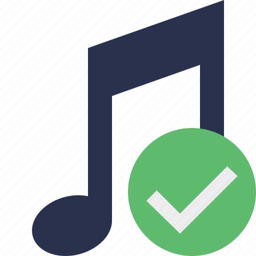 audio, multimedia, music, note, ok, sound icon