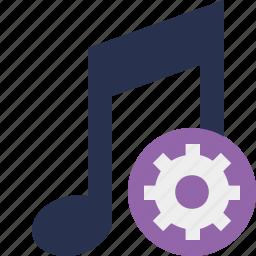 audio, multimedia, music, note, settings, sound icon