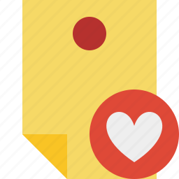 document, favorites, memo, note, pin, reminder, sticker icon