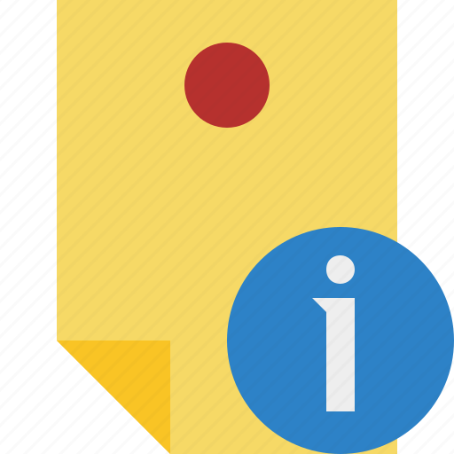 document, information, memo, note, pin, reminder, sticker icon
