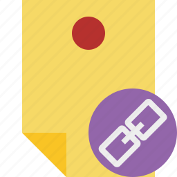 document, link, memo, note, pin, reminder, sticker icon