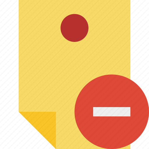 document, memo, note, pin, reminder, sticker, stop icon