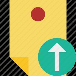 document, memo, note, pin, reminder, sticker, upload icon